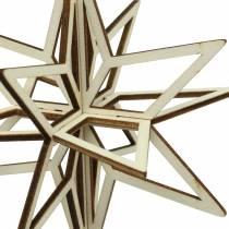3D-stjärnved för att hänga 13,5 cm 6 st