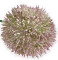 Konstgjord alliumsilkeblomma grön, rosa prydnadslök som konstgjord blomma