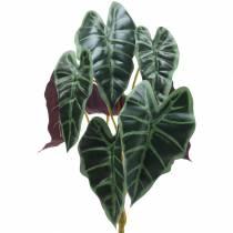 Alocasia pilbladgrön, violett konstgjord växt H48cm