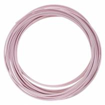 Aluminiumtråd Ø2mm pastellrosa 100g 12m