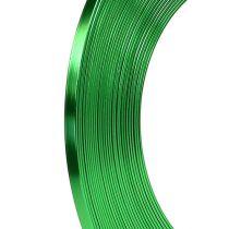 Äppelgrön aluminiumplatttråd 5 mm 10m