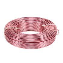 Aluminiumtråd Ø2mm 500g 60m rosa