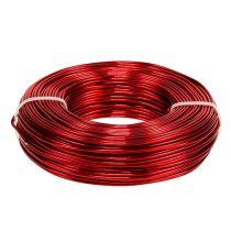 Aluminiumtråd Ø2mm 500g 60m röd