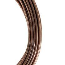 Aluminiumtråd ljusbrun Ø2mm 12m