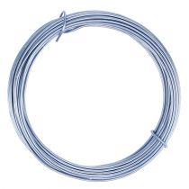 Aluminiumtråd pastellblå Ø2mm 12m