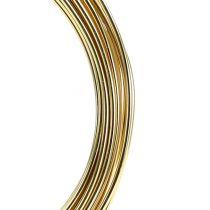 Aluminiumtråd 2mm 100g guld