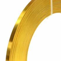 Plattråd i aluminium 5mm 10m solgul hantverkstråd