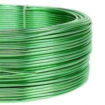 Aluminiumtråd Ø2mm grön 500g (60m)