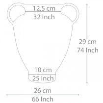 Amfora antikt utseende för plantering av vasmetall trädgårdsdekoration H29cm