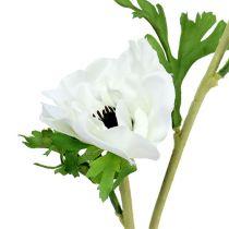Anemon konstgjord vit 6st