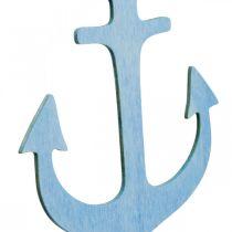 Ankarhängare träblå, vit sommardekoration för att hänga 8st