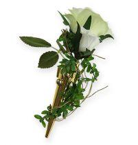 Bröllopstift med magnet, glänsande guld 7cm