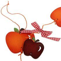 Apple garland red 86cm 3st