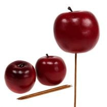 Konstgjord äppelröd Ø7,5cm 6st