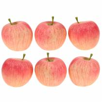 Dekorativ äppelrosa, gul Real-Touch 6,5 cm 6st
