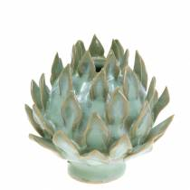 Dekorativ vas konstchock keramisk grön Ø9,5cm H9cm