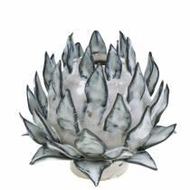 Dekorativ vas konstchock keramisk blå, vit Ø9,5cm H9cm