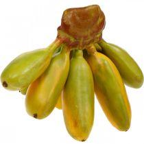 Konstgjord banangrupp, dekorativ frukt, babybananer L7–9cm