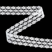 Spetsband vitt 20mm 20m