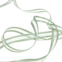 Presentband mintgrön med silver 15mm 20m