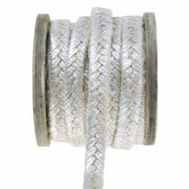 Sladdbrett jute silver 10mm 4m