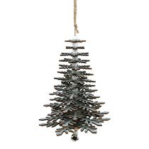 Träd för att hänga silver med klocka 40cm