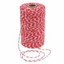 Röd / vit tråd 220mm