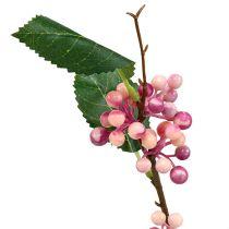 Bärgren konstgjord rosa-lila 64 cm 6st