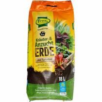 FRUX ekologisk ört- och krukväxt med naturlig lera organisk markörtjord 18l