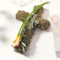 Blommor skum korsar stora gröna 53 cm 2st gravsten smycken