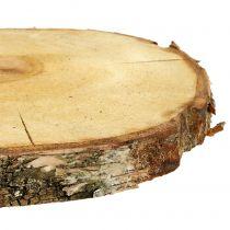 Björkskiva natur Ø30cm - 35cm