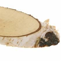 Björkskivor ovala naturliga 4 × 8 cm 1 kg för dekoration