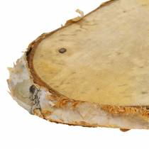 Träskivor björk oval naturlig 7,5 × 13 cm 1 kg