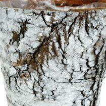 Björkgryta medium Ø12cm H10,5cm vit-naturlig
