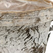 Björkpott vit tvättad Ø13cm H11cm
