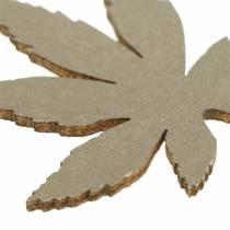 Dekoration för strö Bladen Gul, Brun, Platina Sorterad 4cm 72st