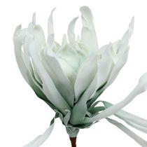 Blommande gren skum vit, grön 72cm
