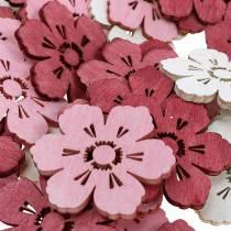 Träblommor körsbärsblommor, strö dekorationsfjäder, bordsdekoration, blommor att strö 72st