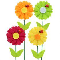 Dekorativ blommaplugg med nyckelpiga H24cm 12st