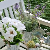 Blomgarnering lavendel i konstgjorda växter för kruka
