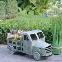 Flowerpot truck zink grå, grön 42 × 17,5 × 19,5 cm