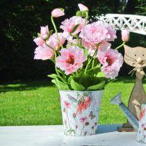 Blomkruka metallblommor vårdekorationsplanter Ø15cm H15,5cm