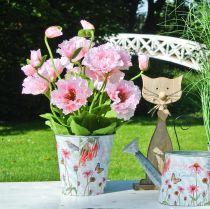 Blomkruka metall solhattar vårdekorationsplanter Ø11,5cm H10,5cm