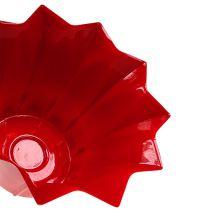 Blomkruka plast röd Ø12cm 10st