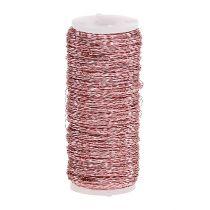 Bouillon-effekttråd Ø0.30mm 100g / 140m rosa