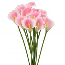 Calla deco blomma rosa 57cm 12st
