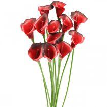 Calla röd bordeaux konstgjorda blommor i gäng 57cm 12st