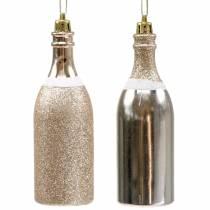 Champagneflaska för att hänga lätt guld 10st