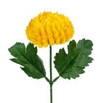 Chrysanthemum gul konstgjord Ø7cm L18cm