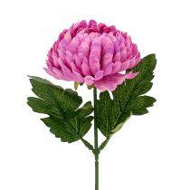 Chrysanthemum Rosa konstgjord Ø7cm L18cm
